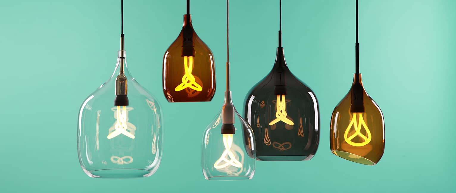 Lighting has come a long way: Plumen low-energy light bulbs.