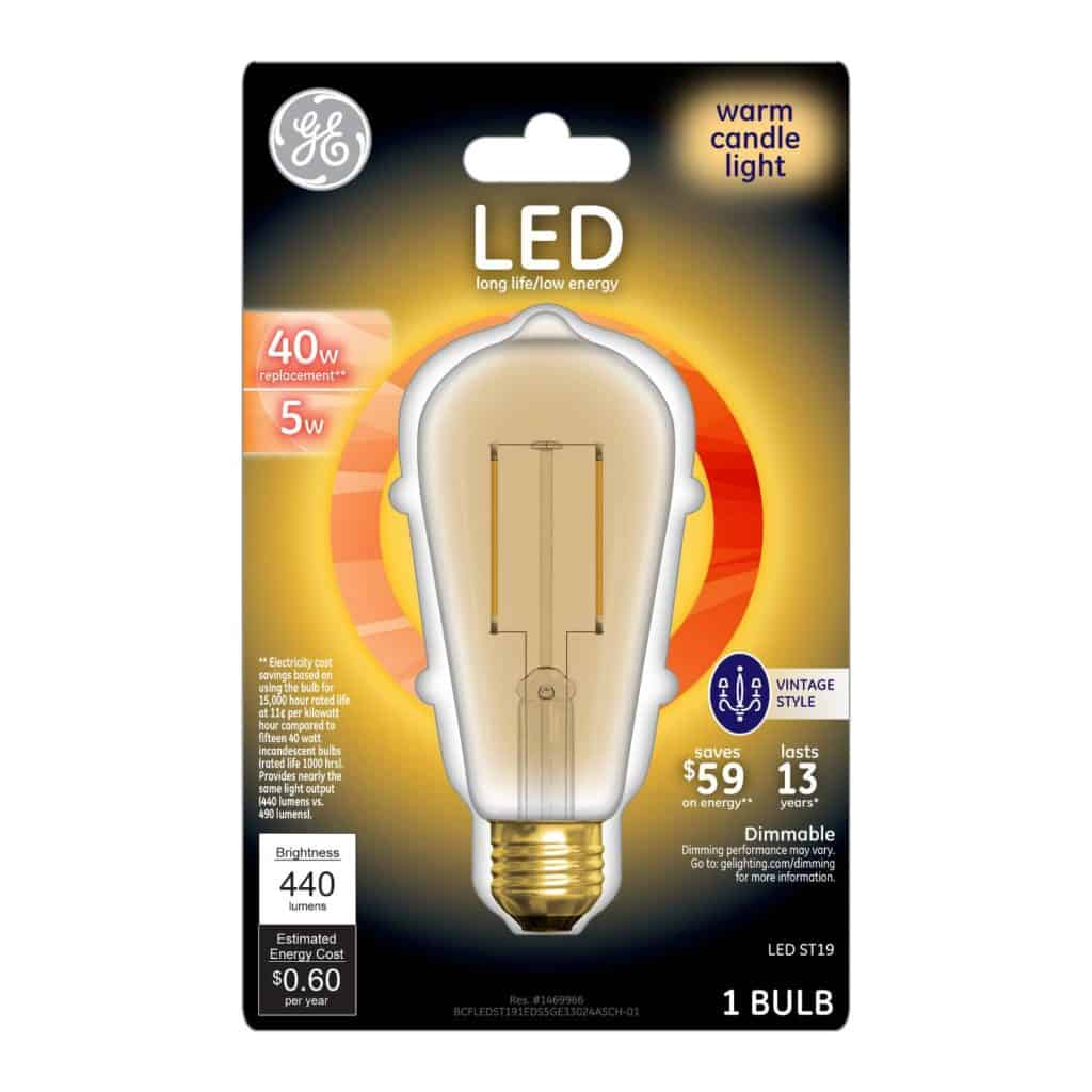 The Warm Candle Light bulb by General Electric is now available at Target.